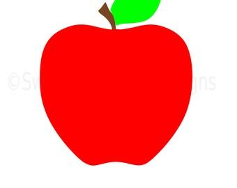 Apple monogram SVG instant download design for cricut or silhouette