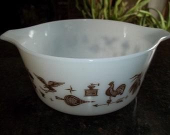 Americana Pyrex#474-B, Vintage, Casserole Dish, Baking Dish, Bowl