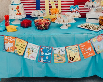 Dr. Seuss/ Banner/ Party/ Wall/ Table