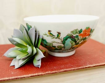 Vintage Japanese Hand-Painted Rice Bowl