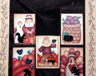 Fall Candle Box By Myra Mahy And Country Faces Tole And Decorative Painting Pattern Packet 2000