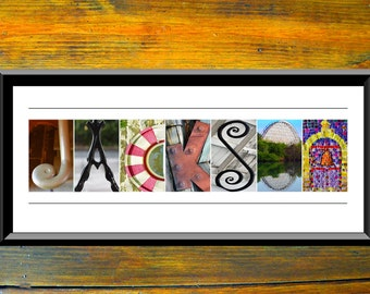 Alphabet Letters Photography – Personalized Wedding Gift – Name Print – Anniversary Gift – Gift For Mom – Gift For Her – Wedding Centerpiece