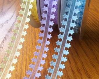 3/4 Inch Organdy Ribbon With Flower Edges