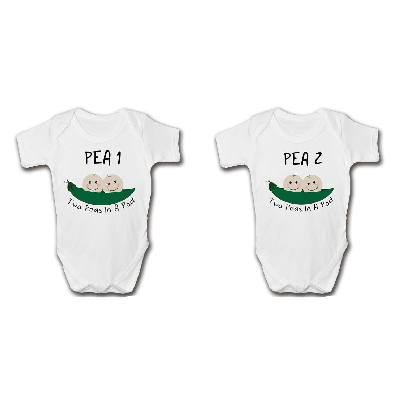 Dos guisantes en un vaina gemelos recién nacidos regalo Set