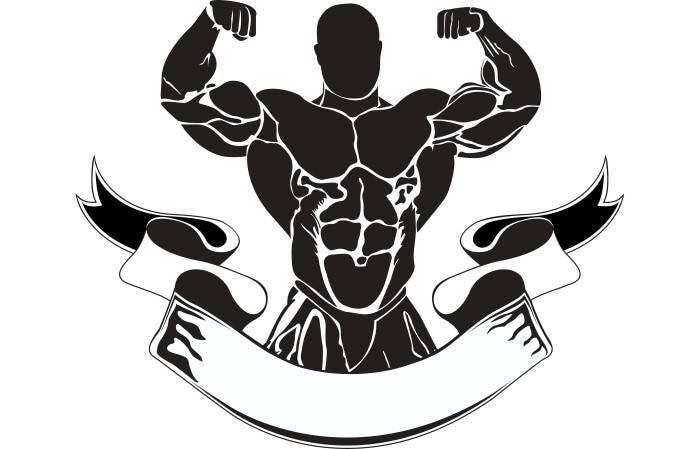 bodybuilding logo 12 bodybuilder banner flexing weightlifting rh etsy com bodybuilding logos graphic design bodybuilding logs on pegmgf