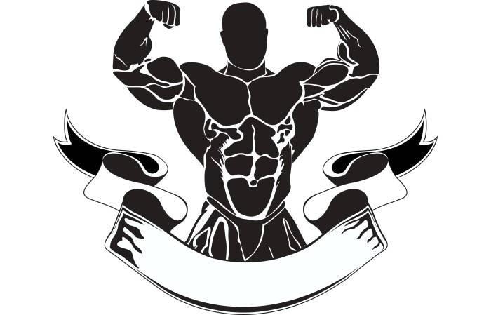 bodybuilding logo 12 bodybuilder banner flexing weightlifting rh etsy com bodybuilding logos free bodybuilding logo tank