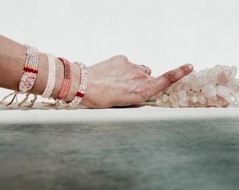 Bracelet woven Linen yarn, Cotton & Viscose gold.Bijoux bohemian chic.Idée gift Mother's Day.Medina Blue