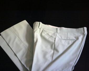 vintage mint green polyester pants size 34W