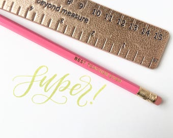 Super // Hand-Lettered Stamp