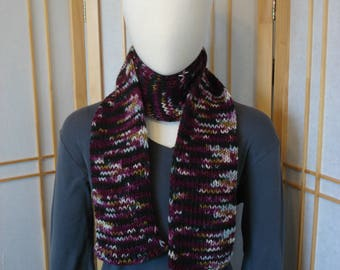 Dark Reds and Blacks Multicolor Scarf (Tighter Knit)