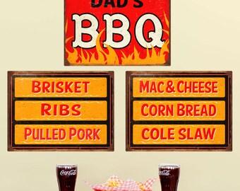 Dads BBQ Southern Menu Wall Decal Set - #57975