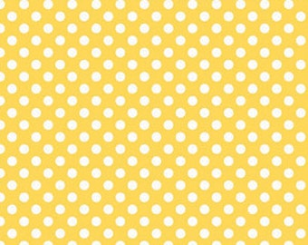Riley Blake Fabric - 1 Fat Quarter Small Dots in Yellow