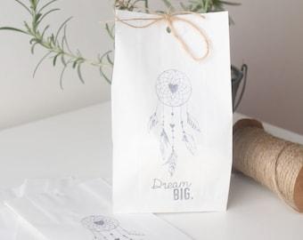 DREAMCATCHER  Paper Party favour bags, paper party favours, dream catcher favours, hand printed x 10
