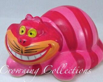 Disney The Cheshire Cat Figurine Alice in Wonderland Japan Ceramic Porcelain Bisque Glaze Vintage RARE