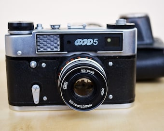 Fed 5 Vintage Soviet Camera Leica Copy Made in USSR Soviet Rangefinder Camera Collection Working Camera Photography 35 mm Vintage Electronic