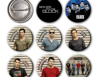New Kids on the Block - NKOTB - Pinback Buttons (set of 8) no.4