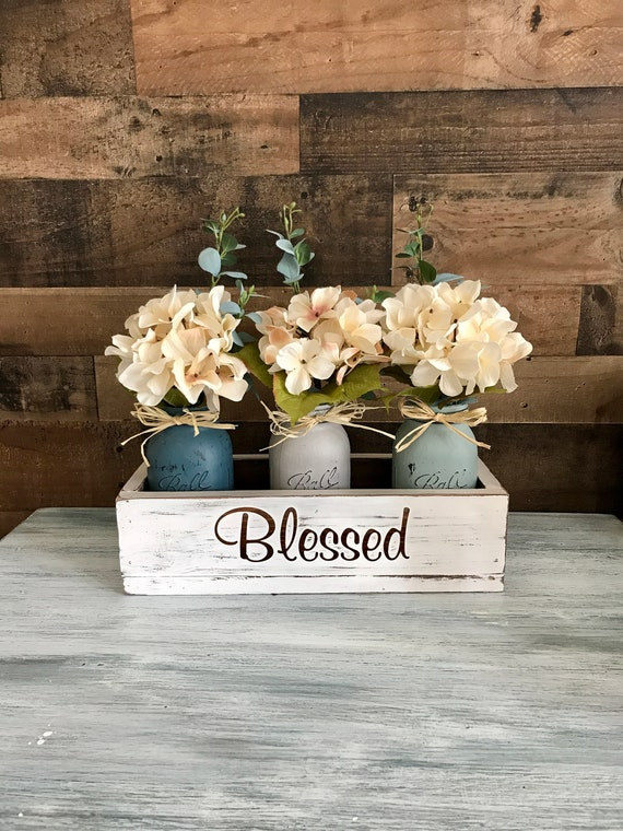 Blessed Wood, Hand painted Wood Sign, Living Room Rustic, Family Decor, Bedroom Decor, Living Room Decor, Wood Blessed Sign, Blessed Rustic