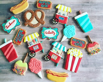 Carnival cookies / circus theme sugar cookies
