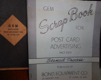 Vintage Gem post card advertising stencil kit, paper ephemera, vintage images graphics