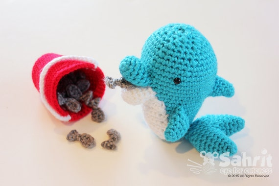 Free Amigurumi Dolphin Pattern : Pattern instant download o so cute goose the dolphin crochet