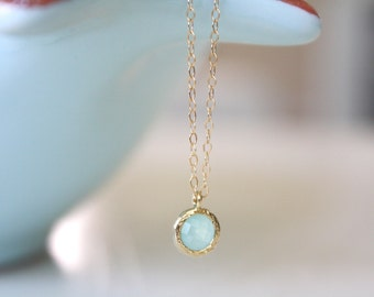 Gold Necklace, Light Blue Wedding, Bridesmaid Necklace, Blue Wedding, Gifts for her, girlfriend gifts, best friend gift, birthday gifts