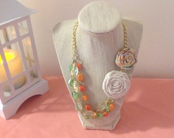 Spring time rosette necklace