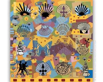 El Camino de Santiago Camino Steps 5  art print on canvas