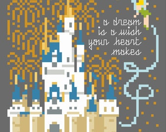 A Dream is a Wish - PDF Cross-stitch Pattern - Instant Download