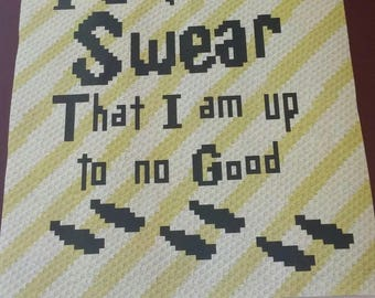 Harry Potter's Up to No Good – Teen/Adult Size C2C Crochet Blanket Afghan Graph Pattern – 75x90 C2C crochet squares