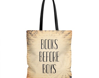 Book Lover Tote Bag - Books Before Boys - Reader Gift - Fangirl - Book Bag