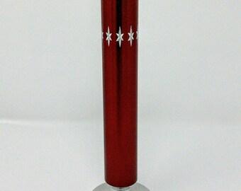 Vintage 1970 Conrah Red Cristillium Aluminium Stem Vase Bud Vase
