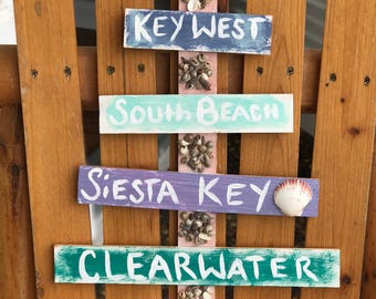 Personalized beach sign, Personalized sign, beach house sign, beach sign, beach decor, personalized beach, personalized, beach house decor
