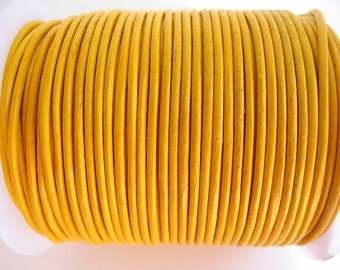 4 m leather 1.5 mm yellow quality sup