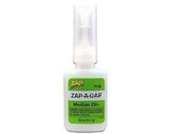 Zap A Gap Glue (1/2 oz) and  Zap a Gap Gel Tube (3g) .10 OZ.