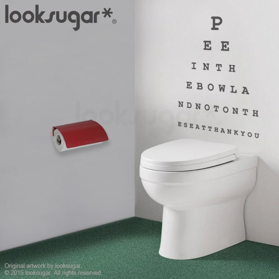 Eyechart Wall Decal Bathroom Wall Decal Topography Wall