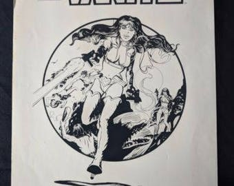 Vintage VANITY Comic Book Art Issue 1 (1984) PACIFIC COMICS Front Cover Layout Will Meugniot  ****1980's****