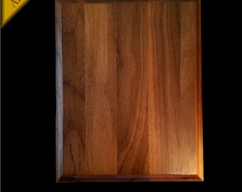"Walnut Wood Award Wall Plaque 6""x 8"" x .75"" - Wagler Awards"