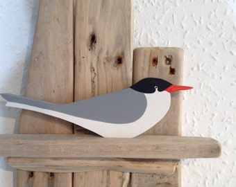 Common Tern - handcut wooden seabird