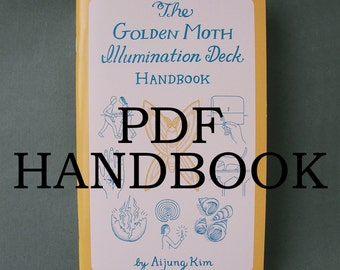 "PDF HANDBOOK ""The Golden Moth Illumination Deck Handbook"" // tarot book / tarot guide / tarot handbook / tarot companion / pagan"