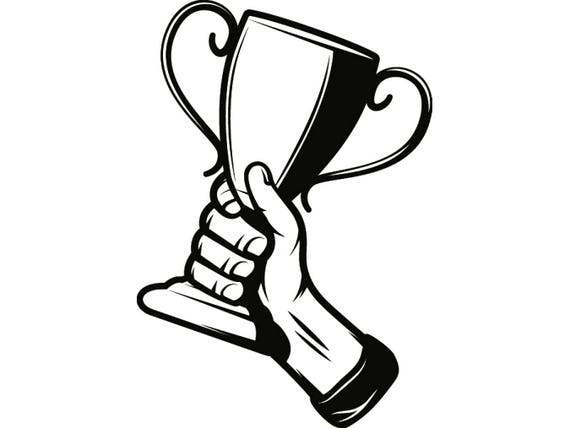 trophy winner prize victory award cup champion sport achievement rh etsystudio com winter clip art black and white winter clipart
