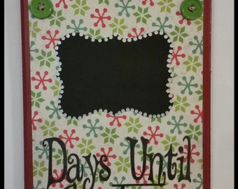 50% OFF  Inventory closeout sale!!  Rustic, Chic, Wood Christmas Countdown Sign