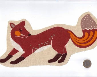 Applied: Image for sewing or craft collection Fox animals of the forest 20 x 19 cm