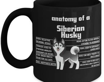 Husky Gifts, Husky Mug, Husky Mom Mug, Anatomy of Siberian Husky, Husky Mom, Siberian Husky Gift, Husky Lover Gift, Husky Dad