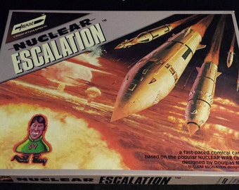 "Vintage 1983 ""Nuclear Escalation"" Board Game by Flying Buffalo, NEARLY NEW"