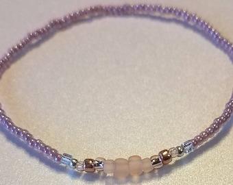Seed bead bracelet, stretch bracelet, pink bracelet , stacking bracelet, friendship bracelet, minimalist