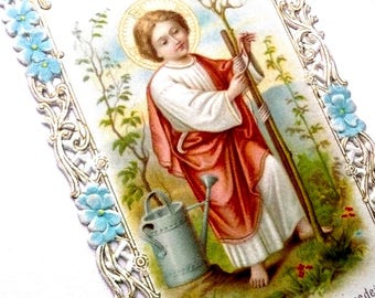 1900s Antique Holy Card, Child Jesus, Lace Holy Card