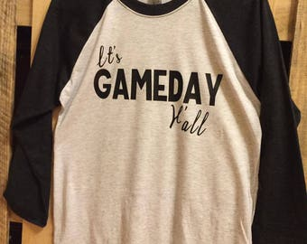 It's Gameday Ya'll Raglan --- School Spirit --- Baseball Tee --- Gameday Shirt --- Game Day --- Cute Girl Gift