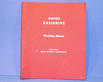 Rootes Smiths Easidrive Automatic Gearbox Transmission Workshop Manual 1959