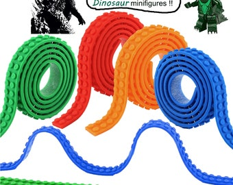 Silicone Block Tapes for Lego Bricks, Self Adhesive Baseplate Strips, Non-toxic Cuttable Reusable Crafts Tape (4 Roll)