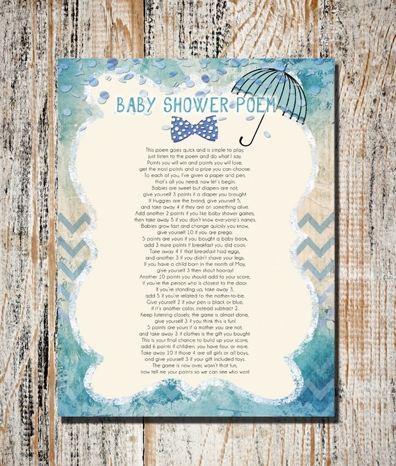 Superb Baby Shower Games, Printable Baby Shower Game, Instant Download Shower Game,  Baby Shower Poem Game